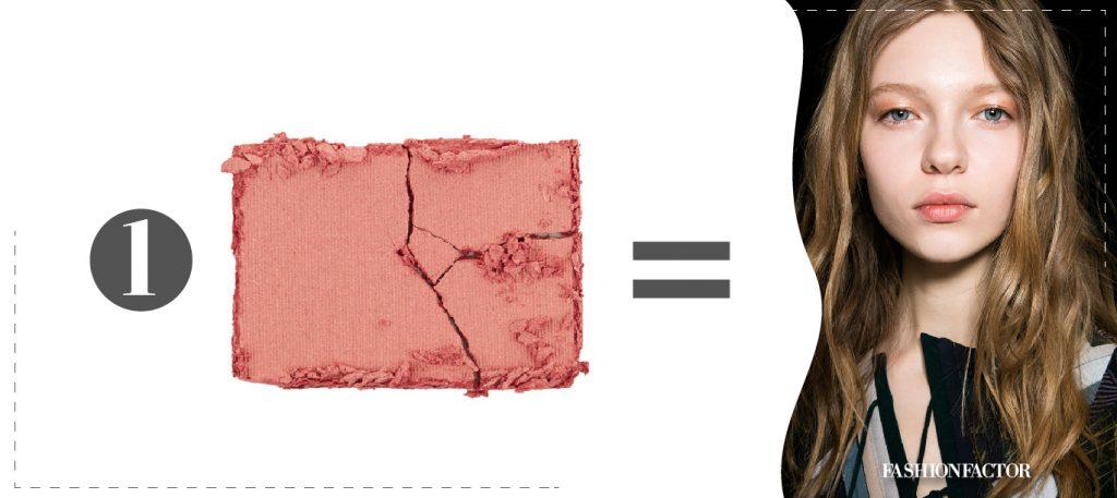 como aplicar rubor rosa en mejillas