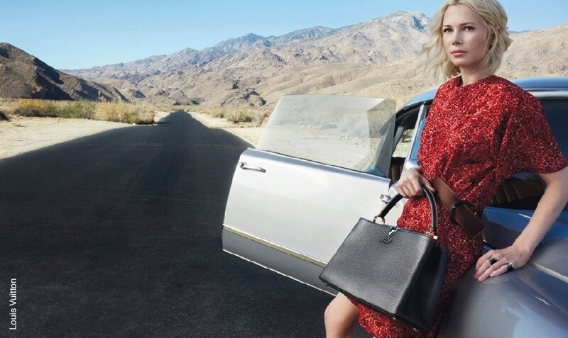 Michelle Williams, imagen de louis vuitton